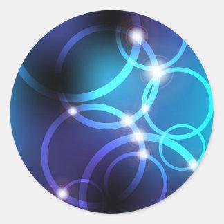 Att glöda cirklar runt klistermärke