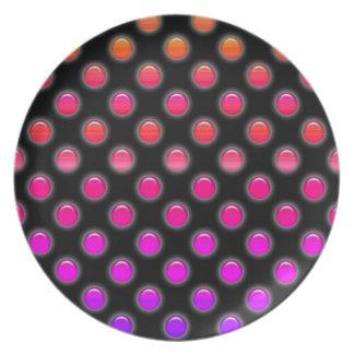 Att glöda för multifärgad pricker tallrik