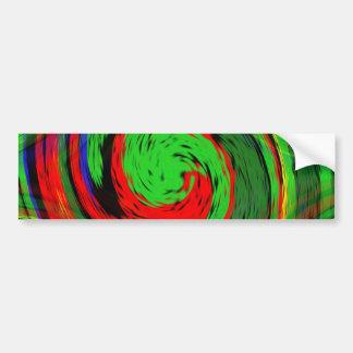 Att glöda grönt och fluoresent rött virvlar runt bildekal