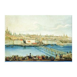 Att lägga av Moskvoretskyen överbryggar i Moscow Canvastryck