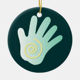 Att läka räcker prydnaden julgransprydnad keramik