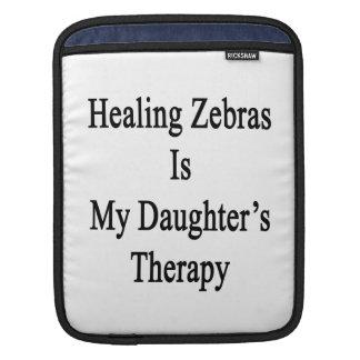 Att läka zebror är min dotters terapi sleeves för iPads
