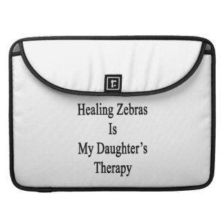 Att läka zebror är min dotters terapi sleeves för MacBooks