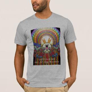 Att låta går ~-konst av shamanen tee shirts