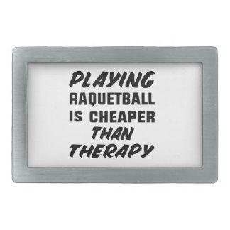 Att leka Racquetball är mer billig än terapi