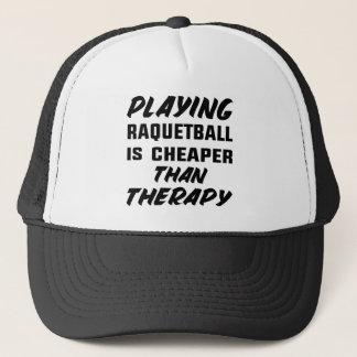 Att leka Racquetball är mer billig än terapi Keps