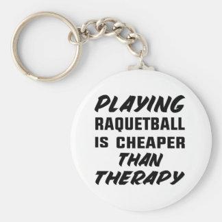 Att leka Racquetball är mer billig än terapi Rund Nyckelring
