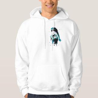 att lyssna i skuggar sweatshirt med luva