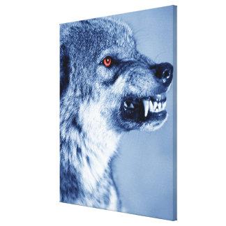 Att morra vargen (CanisLupus), profilerar (Digital Canvastryck