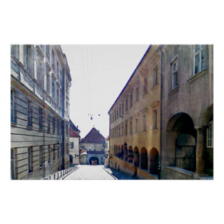 Att närma sig stengrinden i Zagreb Poster