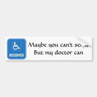 Att parkera för handikapp undertecknar bildekal