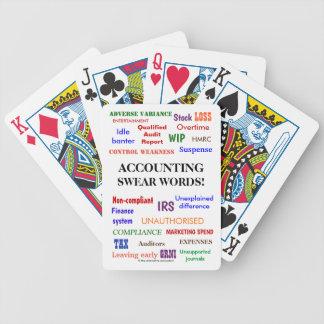 Att redogöra svär ord det roliga revisorskämtet spelkort