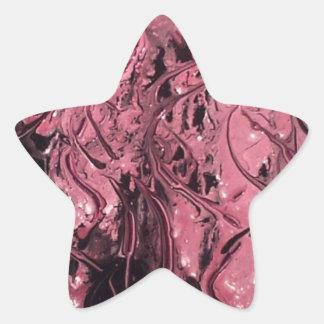 att regna besegrar stjärnformat klistermärke