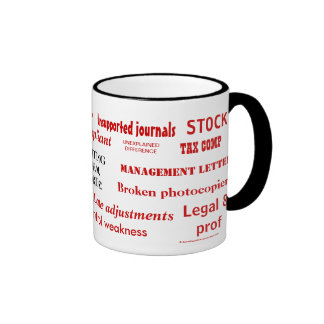 Att revidera svär ord! Ohyfsade revisorsvordomar! Kaffe Koppar