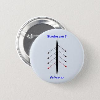 Att ro slår sju placerar standard knapp rund 5.7 cm