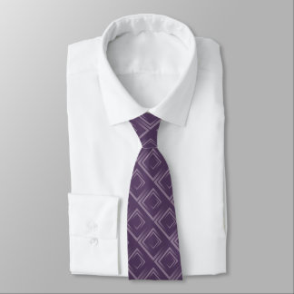att röra sig i spiral för lila kvadrerar mönster slips