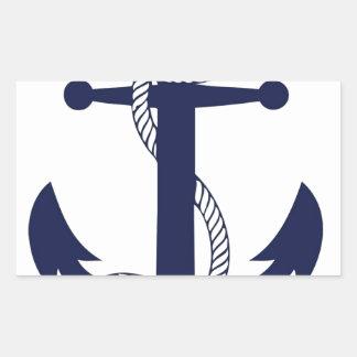 Att segla ankrar marinen rektangulärt klistermärke