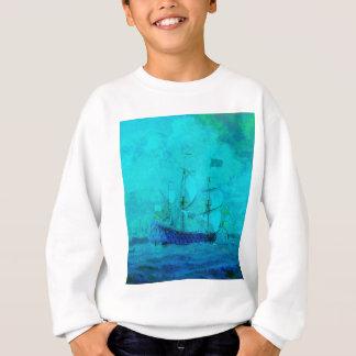 Att segla i lugna turkos bevattnar t-shirts