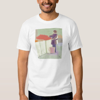 Att shoppa som är utomhus-, marknadsför, t-shirt