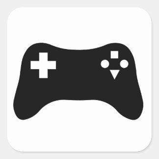 Att spela tröstar fyrkantigt klistermärke