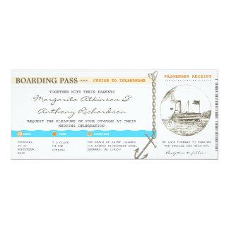 att stiga ombord passerar 10,2 x 23,5 cm inbjudningskort
