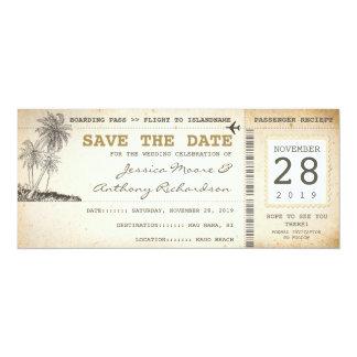 att stiga ombord passerar biljetter för spara 10,2 x 23,5 cm inbjudningskort