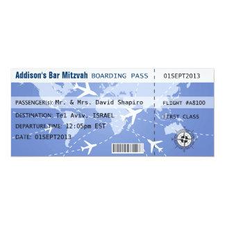 Att stiga ombord passerar Placecard 10,2 X 23,5 Cm Inbjudningskort