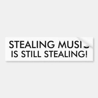 Att stjäla musik är stilla stjäla! bildekal