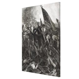 Att storma av stenigt pekar, Juli 1779 Sträckta Canvas Tryck