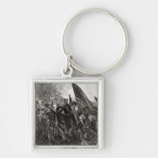 Att storma av stenigt pekar, Juli 1779 Fyrkantig Silverfärgad Nyckelring