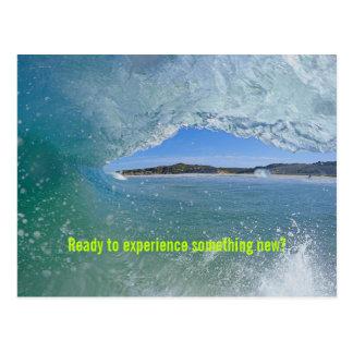 Att surfa vinkar den välkommna beställnings- vykort