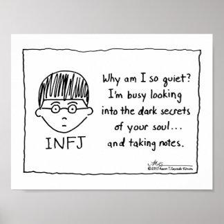 Att ta för INFJ noterar trycket Poster