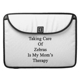Att ta omsorg av zebror är min mamma terapi
