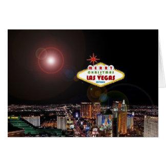 Att tända verkställer den Las Vegas julkortet Kort