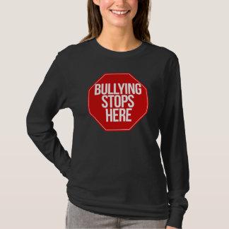 Att trakassera stoppar här t-shirts