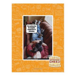 Att vänta fodrar för snuggles vykort
