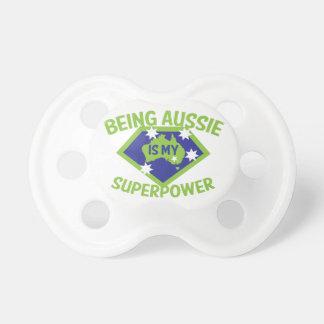 Att vara Aussie är min superpower Bebis Napp
