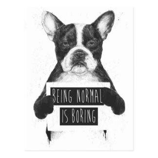Att vara det normala borrar vykort