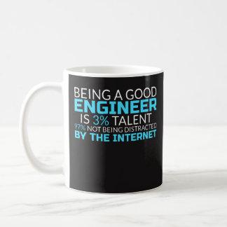 Att vara en bra ingenjör är den 3% talangen - vit mugg