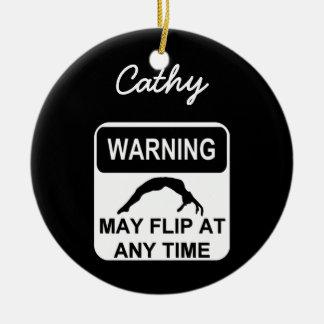 Att varna kan bläddra gymnastprydnaden julgransprydnad keramik
