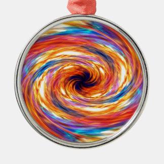 Att virvla runt avfyrar stormen julgransprydnad metall