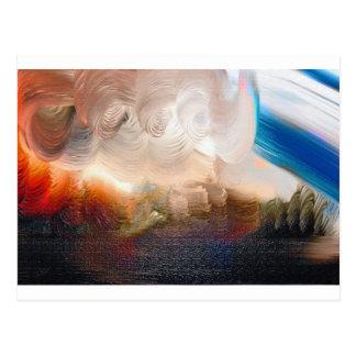 Att virvla runt målar kludd vykort