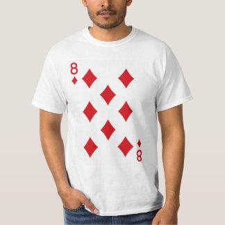 Åtta av diamanter som leker kortet tröja