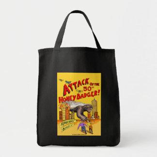 Attack av den 50ft honey badger! shoppa toto hänga mat tygkasse