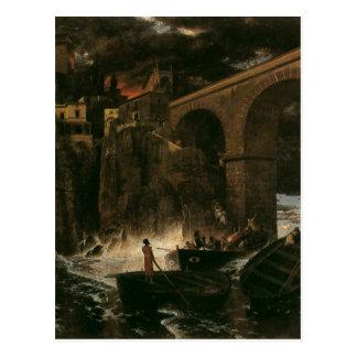 Attack av pirater av Arnold Böcklin Vykort