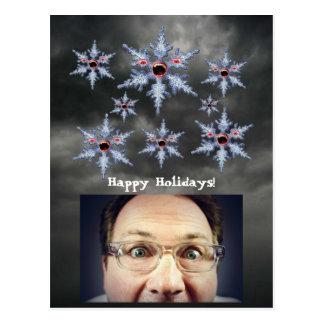 Attack av vykortet för SnowflakeZombieshelgdagar Vykort