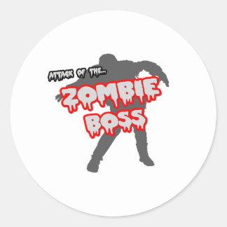 Attack av Zombiechefen Runt Klistermärke