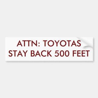 ATTN: TOYOTAS-STAGBAKSIDA 500 FOT BILDEKAL
