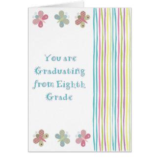 Åttonde klassstudentenkort för en flicka hälsningskort