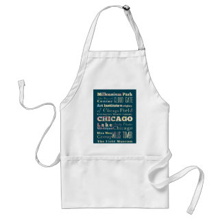 Attraktioner & berömd ställen av Chicago, Illinois Förkläde